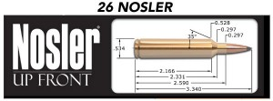 With its ideal case shape and dimensions, the new 26 Nosler is another new round that is an excellent candidate for rebarreling factory belted magnum (or ultra magnum)  rifles.